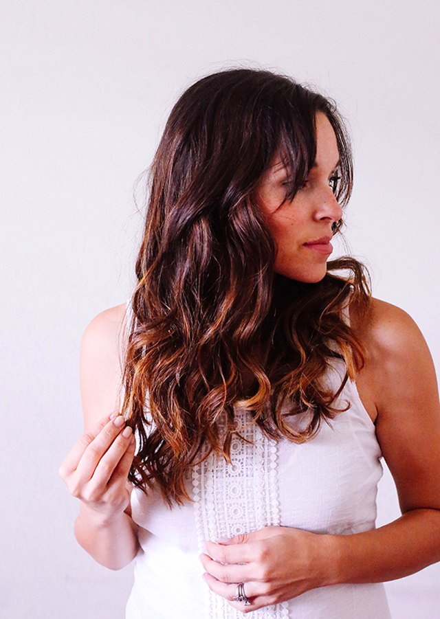 Finished beach waves look natural and carefree.