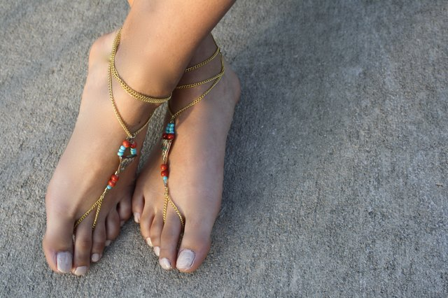 Your finished beaded rope sandals.