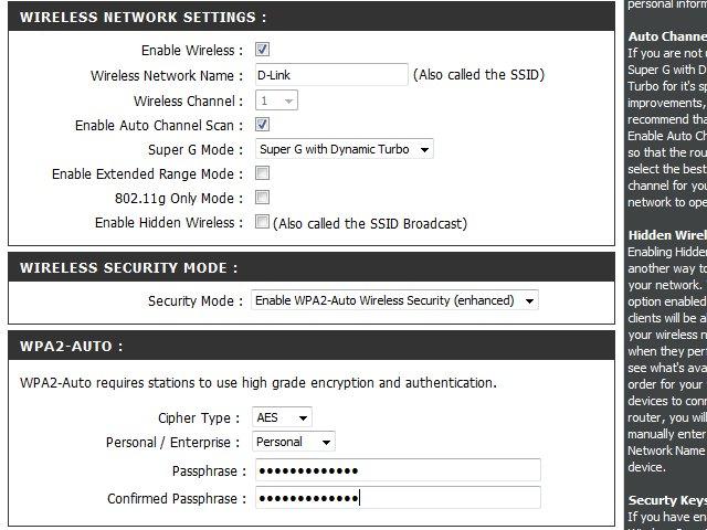 how to change wifi password in dlink