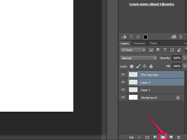 how to move a group of layers in photoshop