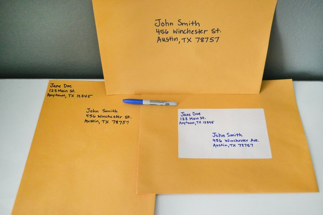 How To Address Large Envelopes With Pictures Ehow
