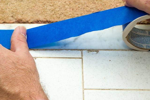 How To Paint A Ceramic Tile Floor With Pictures Ehow