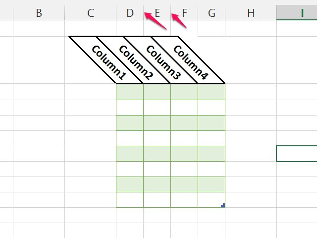 how to create new cell excel