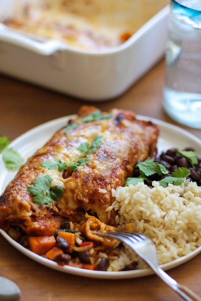 Serve enchiladas with your favorite side dish.