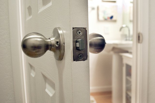 how to unlock a locked bathroom door with pictures ehow With how to unlock a locked bathroom door from the outside