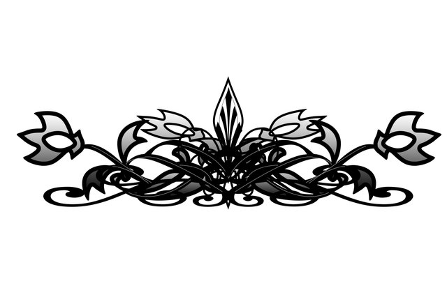 Use Photoshop layers to add symmetry to your filigree.