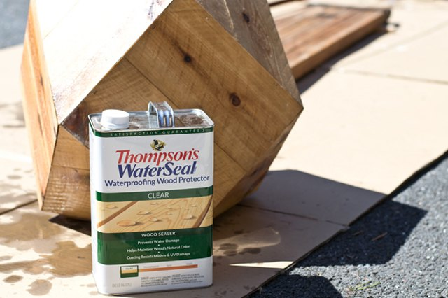 Add waterproofing sealer to protect the cedar.