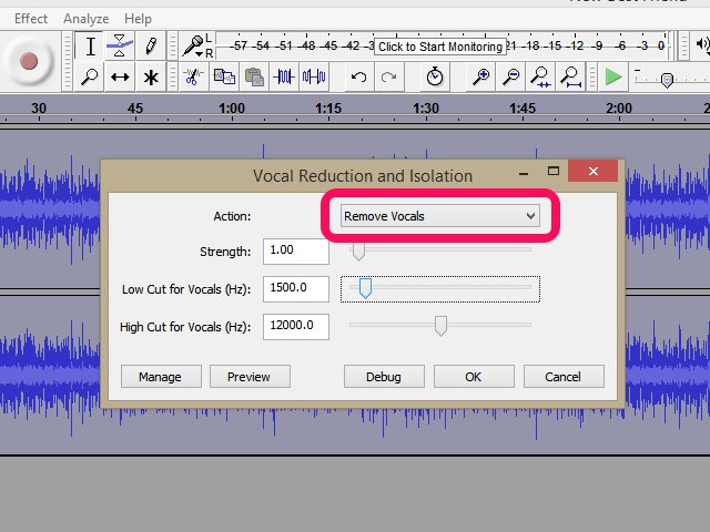 how to remove vocals from a song using audacity ehow. Black Bedroom Furniture Sets. Home Design Ideas