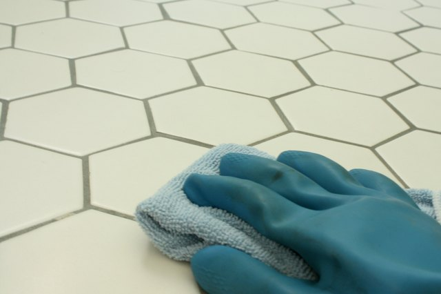how to clean bathroom tiles with acid