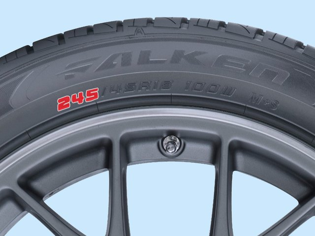 A larger number indicates a wider tire.