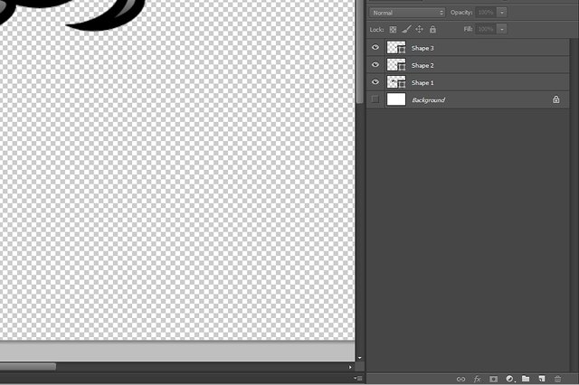 Hide the background layer before merging the visible layers.