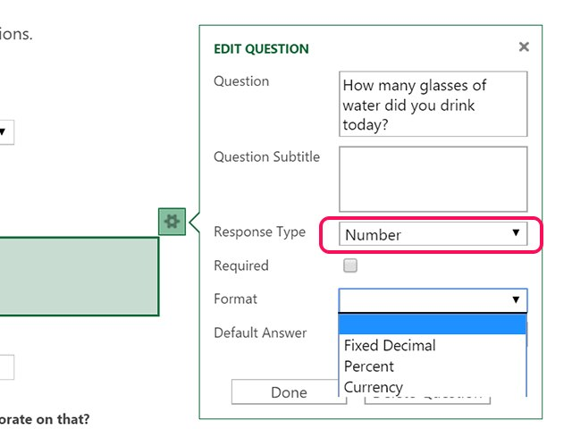 how to create a survey in excel 2016