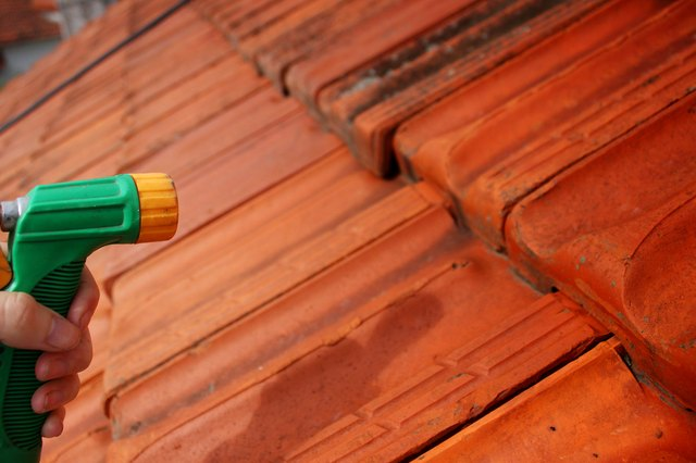 How To Remove Lichen From Roof Shingles With Pictures Ehow