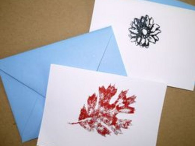Embossed cards are attractive and easy to make.