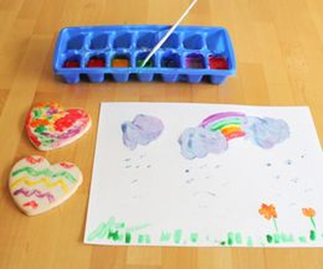 Edible paint can be used on paper as well as food.