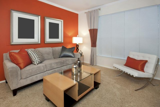 Colors that go well with orange in a bedroom with - Grey and burnt orange rooms ...