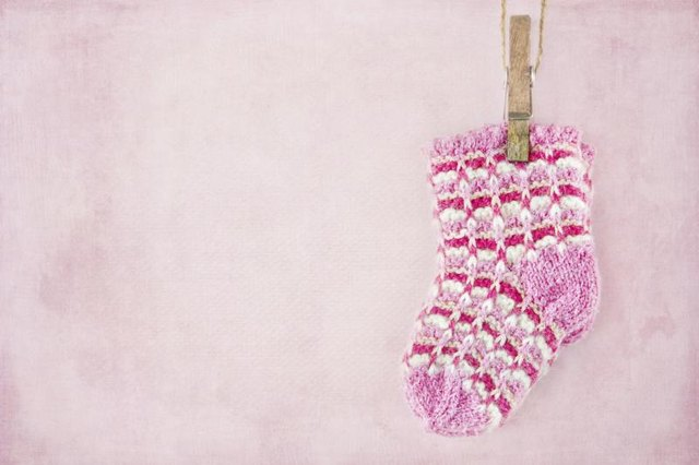 A baby girl's sock.