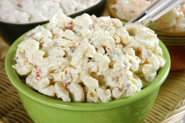 Eat macaroni salad at picnics or cookouts.