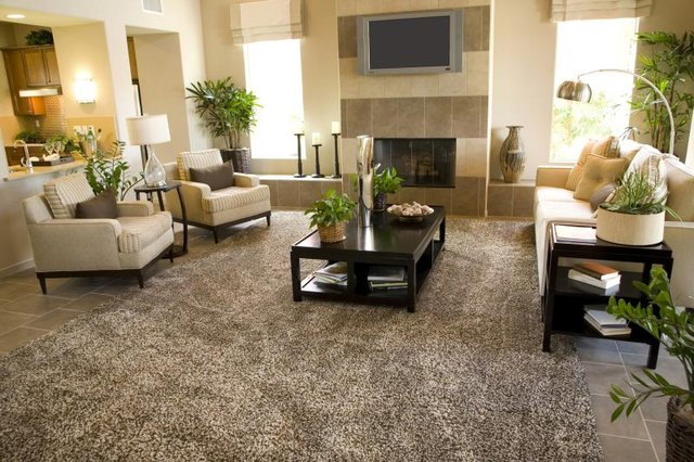 Great A Textured Area Rug Covering The Floor Of A Contemporary Living Space.