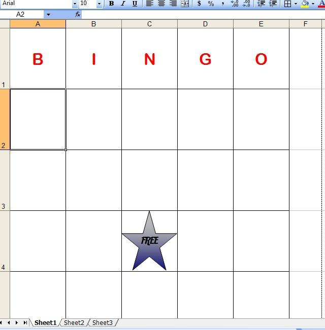 how to make bingo cards in excel with pictures ehow