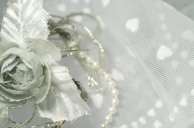 Tulle is a synthetic material that requires gentle cleaning.