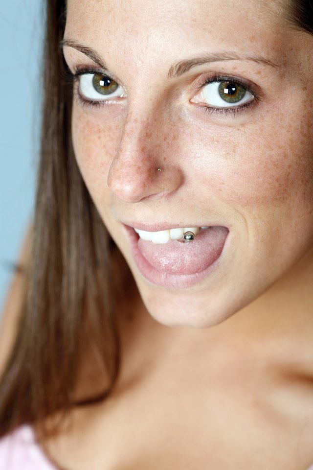 Pierced tongue