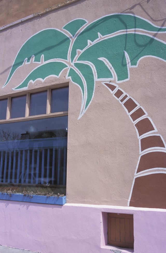 Paint a mural to backdrop the pebble garden.