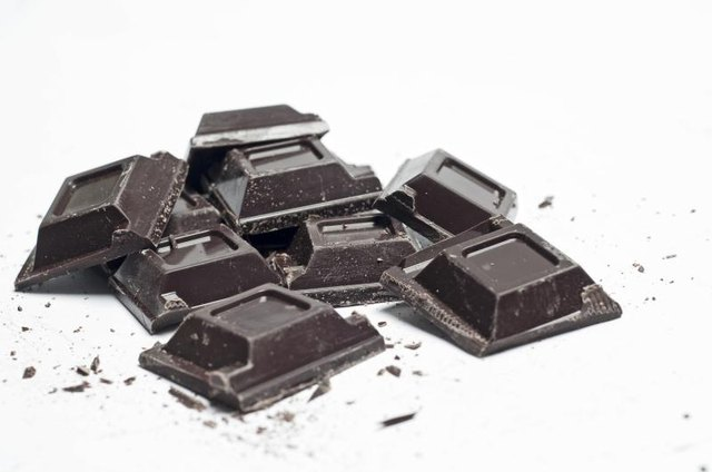 Dark chocolate stimulates chemicals that make you feel relaxed.