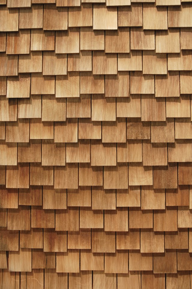 Shingles are usually neutral in color.