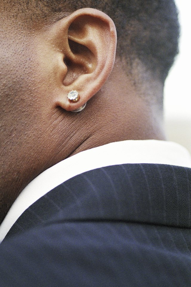 types of mens earrings with pictures ehow