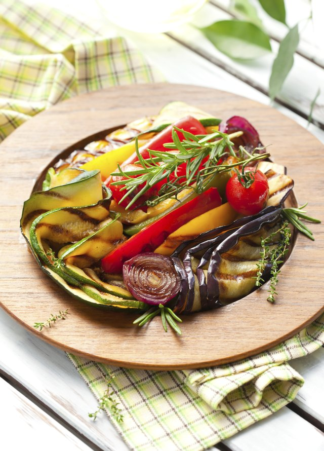 Cooked vegetables with rosemary