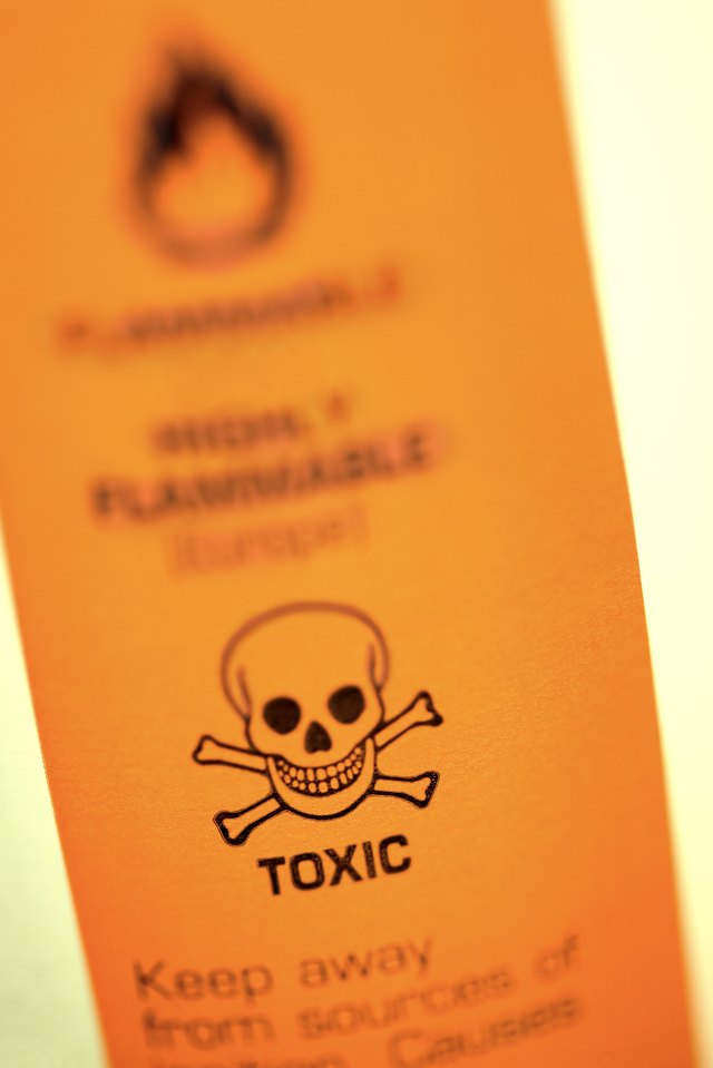 A close-up of a poison label.