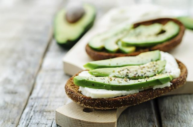 Use avocado as a healthy topping for toast.