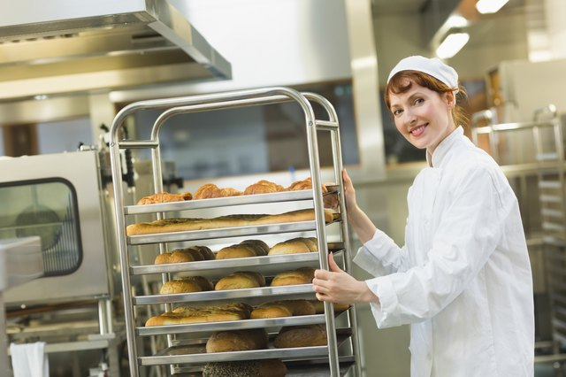 Bakery assistants deal with inventoy control.