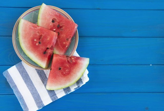 Hydrate with watermelon! It's high water levels and antioxidants make your skin glow.