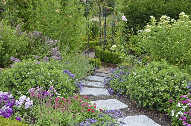 Rock Landscaping Underlayment : How to keep pathway materials in place ehow