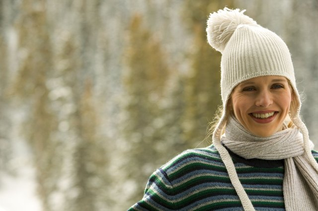 Wool knit hats keep the head warm, and still look stylish.