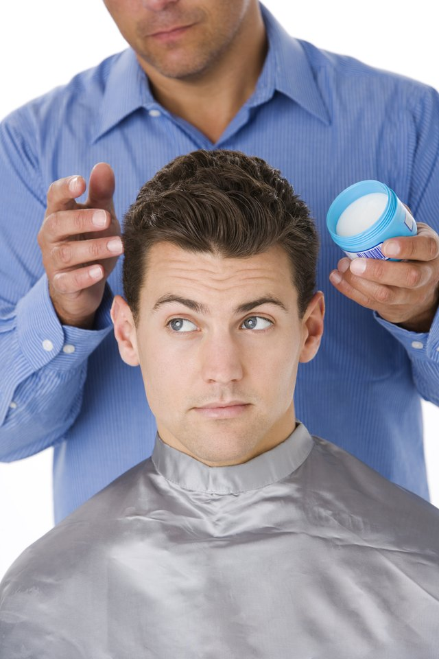 man with hair product