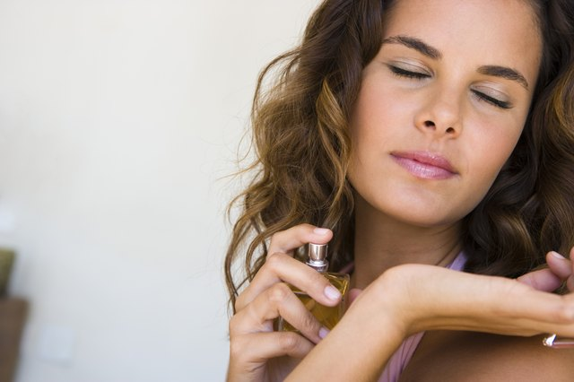 Dab a little witch hazel or alcohol on your wrist to neutralize the scent.