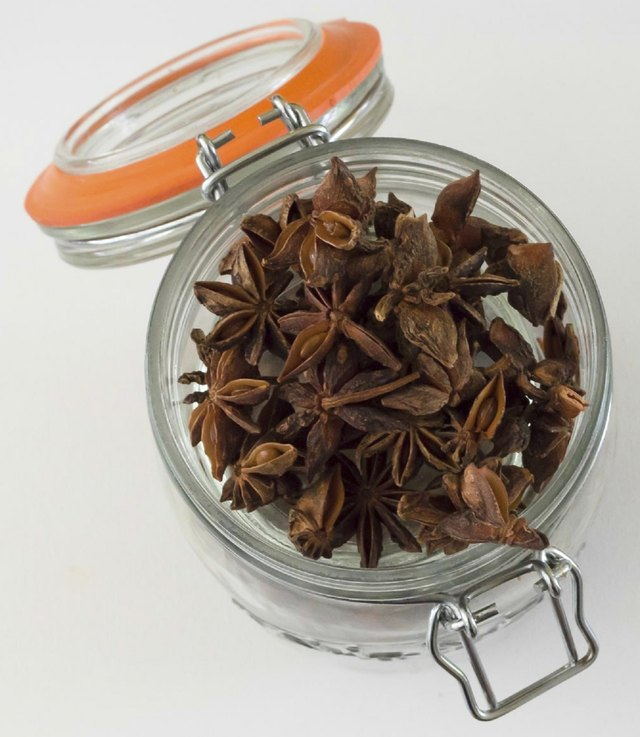 Anise in canning jar.