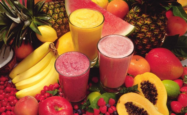 Fruit shakes often have rich, bright colors.