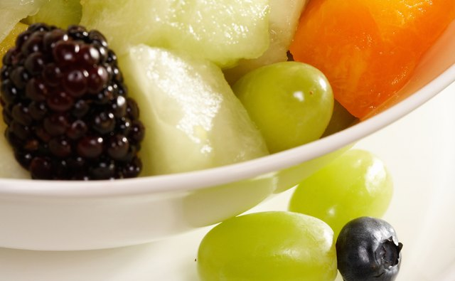Kids love fruit salad as a snack.
