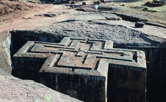 Lalibela, Ethiopia, has 12 medieval churches carved out of rock.