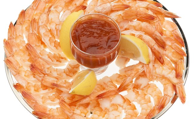 Shrimp and cocktail sauce is a fast yet delicous treat.