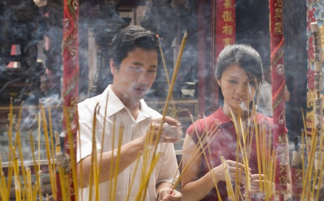 Buddhist funerals use incense in many different Buddhist cultures.