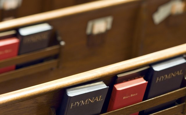 Christian hymn books.