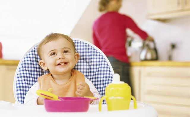 Use play feeding mats so baby is entertained while you cook.