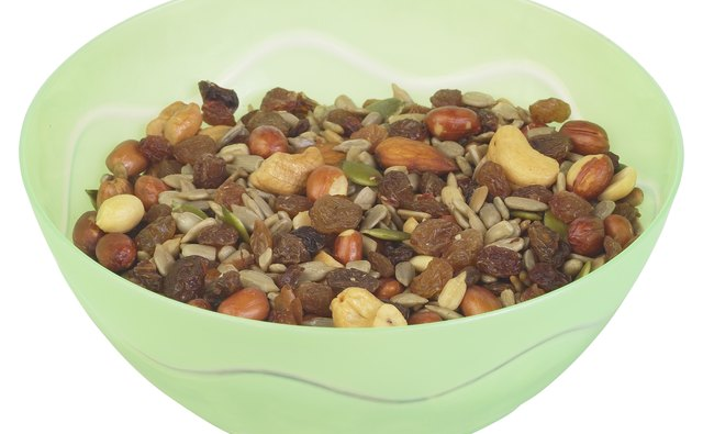 Seeds, nuts, and dried fruits are all allowed in moderate quantities.