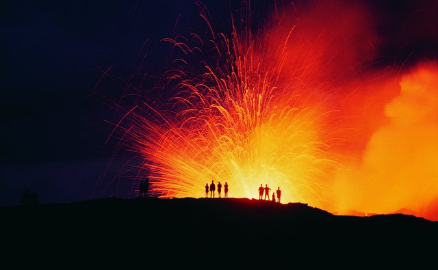Large scale eruptions can create a