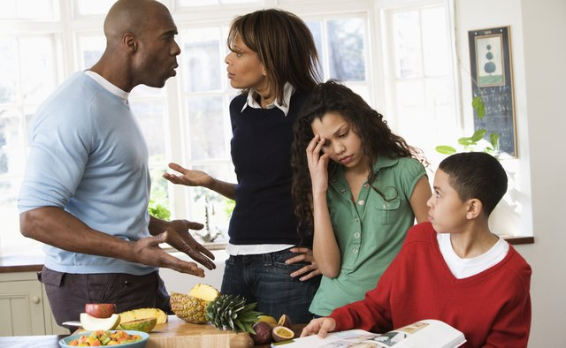 Conflict between parents can cause a negative reaction from your teen.